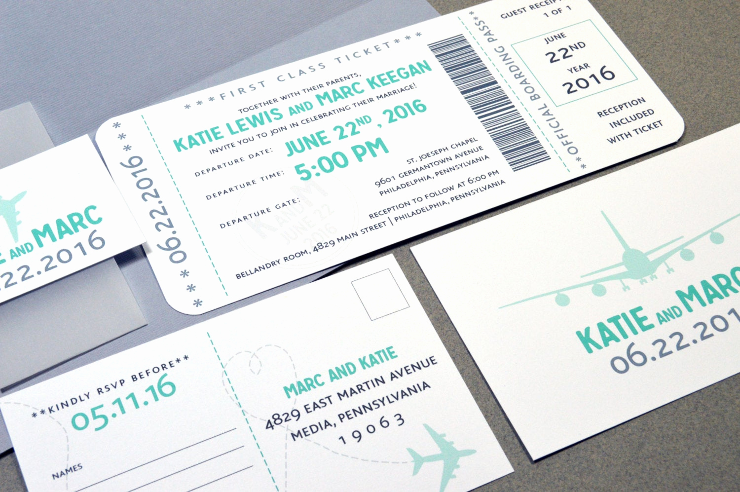 Boarding Pass Wedding Invitations Elegant Boarding Pass Wedding Invitations Plane Ticket by