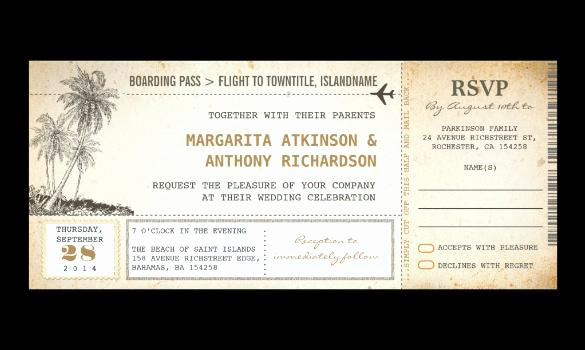Boarding Pass Wedding Invitations Luxury Download Boarding Pass Invitation Templates for Free