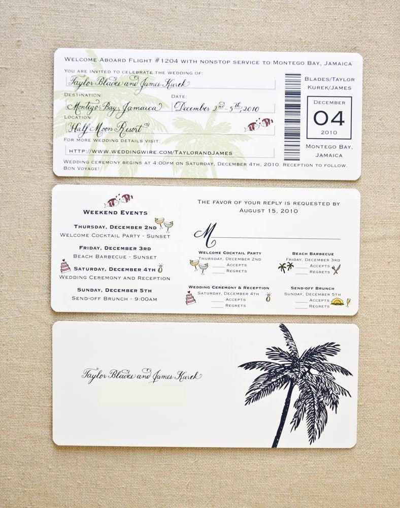 Boarding Pass Wedding Invitations New Image for Boarding Pass Wedding Invitation Template