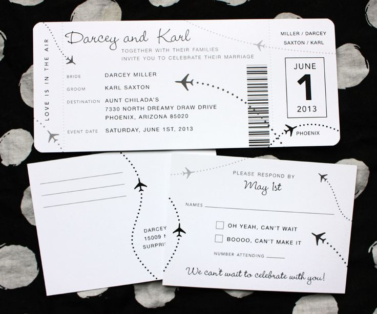 Boarding Pass Wedding Invitations Unique 17 Best Ideas About Boarding Pass Invitation On Pinterest