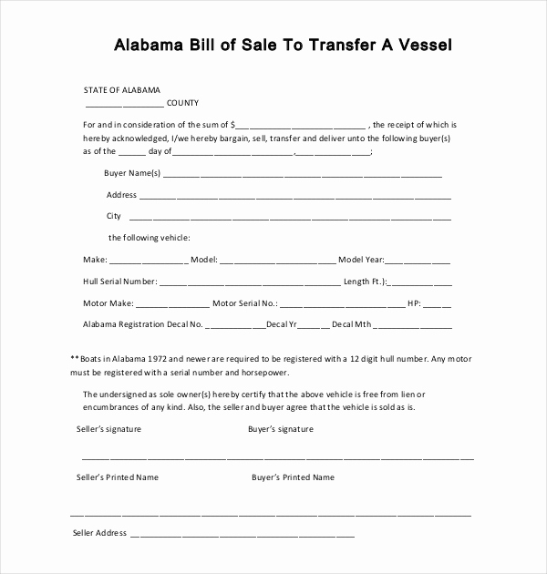 Boat Bill Of Sale form Beautiful Sample Boat Bill Of Sale form 15 Free Documents In Pdf Doc