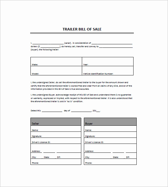 Boat Trailer Bill Of Sale Awesome Bill Of Sale Template 44 Free Word Excel Pdf