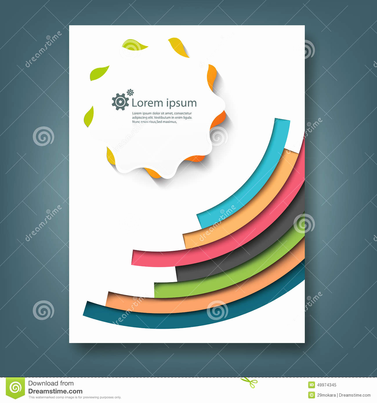 Book Cover Design Template New Report and Cover Book Template Stock Illustration