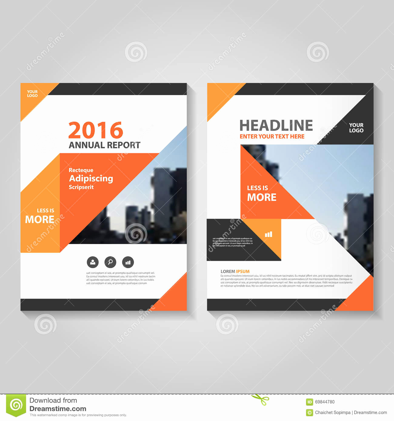 Book Cover Design Templates Awesome Abstract orange Black Annual Report Leaflet Brochure Flyer
