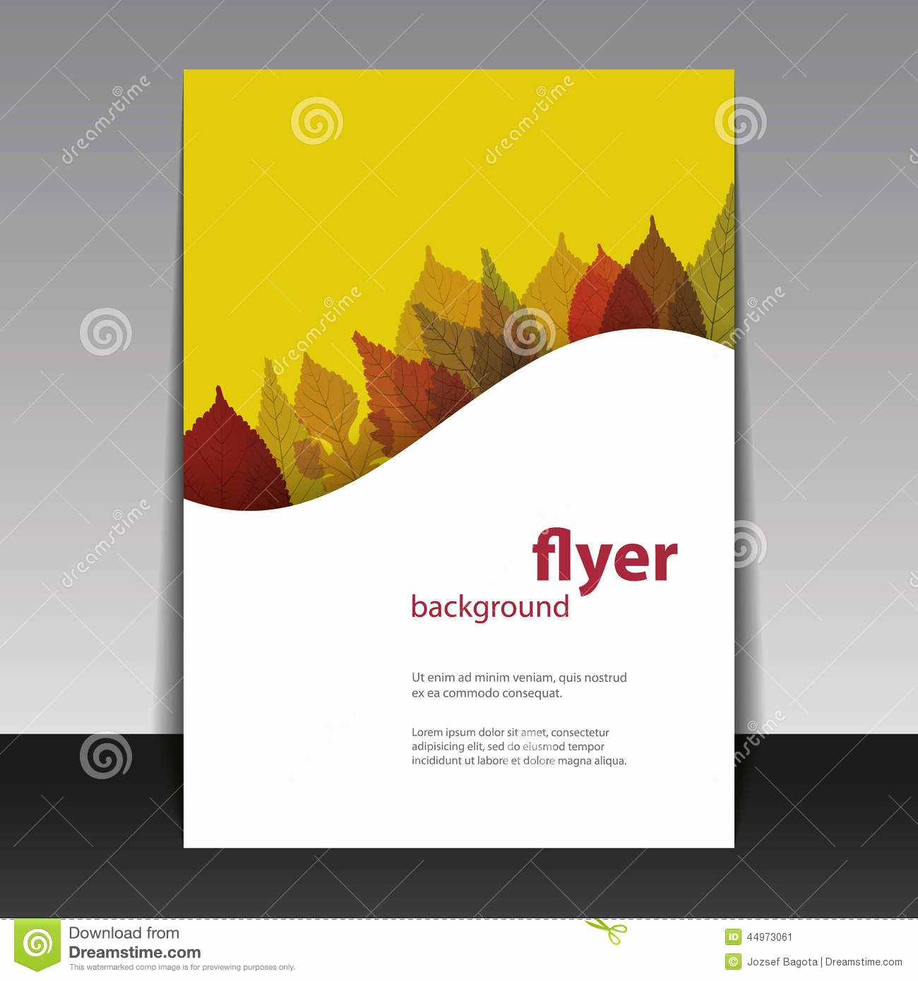 Book Cover Design Templates Best Of Flyer Cover Design Autumn Leaves Stock Vector