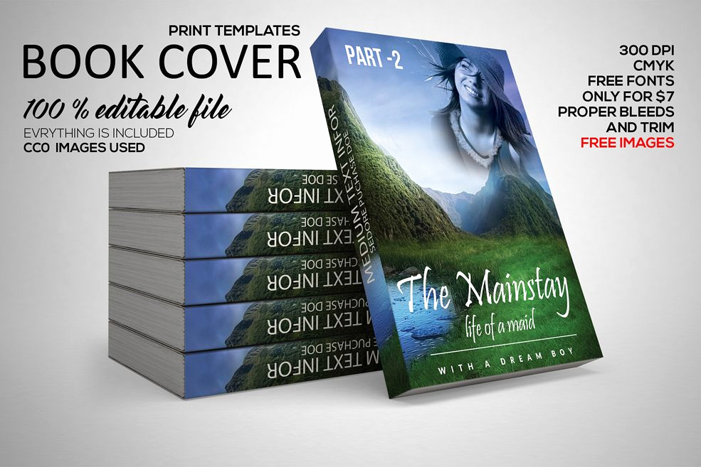 Book Cover Design Templates Elegant Story Book Cover Template by Designhub7