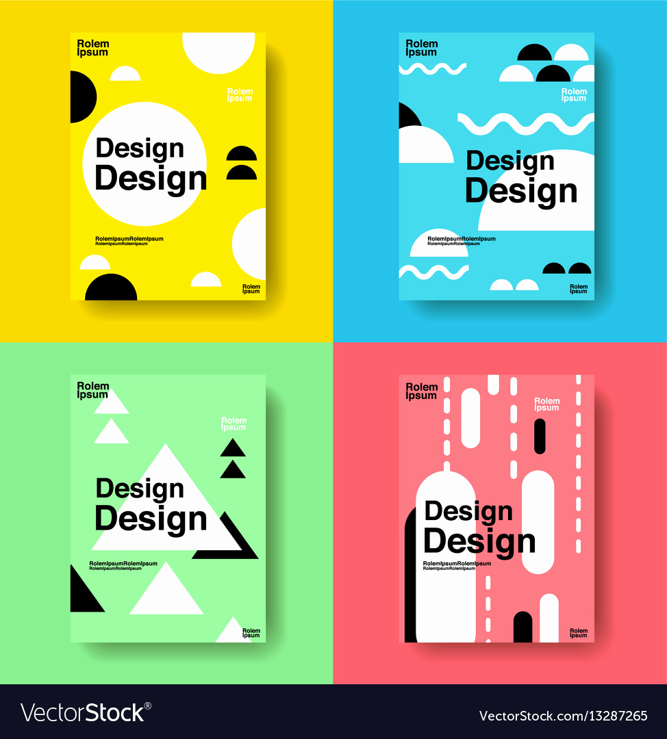 Book Cover Design Templates Inspirational Layout Design Template Cover Book Colorful Cute Vector Image