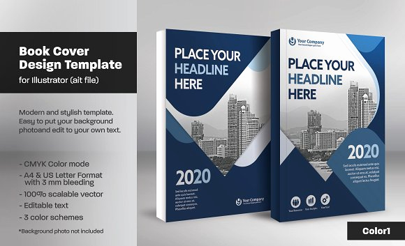 Book Cover Design Templates Luxury Illustrator Book Template torrent Designtube Creative