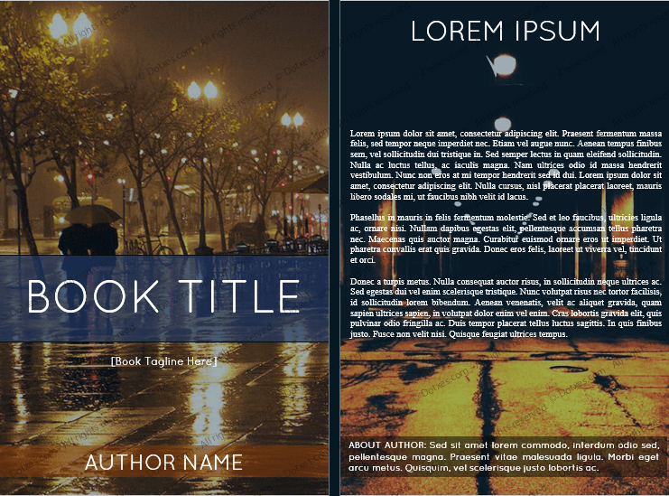 Book Cover Template Free Inspirational Book Cover Template Free Download Dotxes