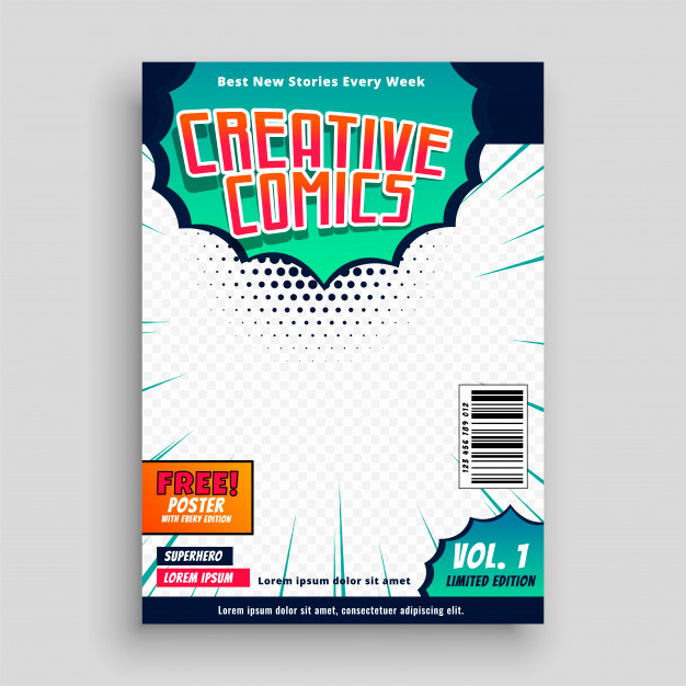 Book Cover Template Free Inspirational Ic Book Cover Template Design Vector