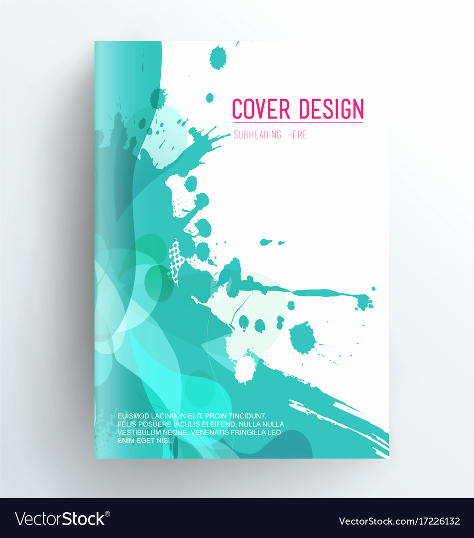 Book Cover Template Free New Book Cover Design Template with Abstract Splash Vector Image