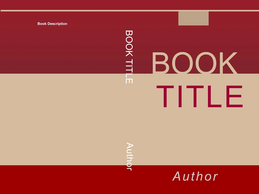 Book Cover Template Free Unique Book Cover Template