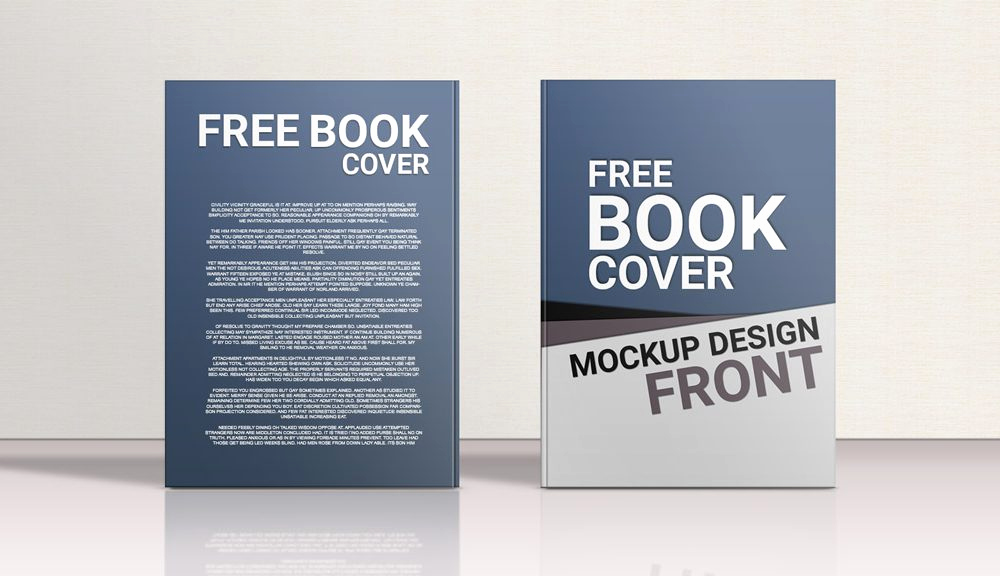 Book Cover Template Psd Elegant Standing Hardcover Book Front Back Mockup