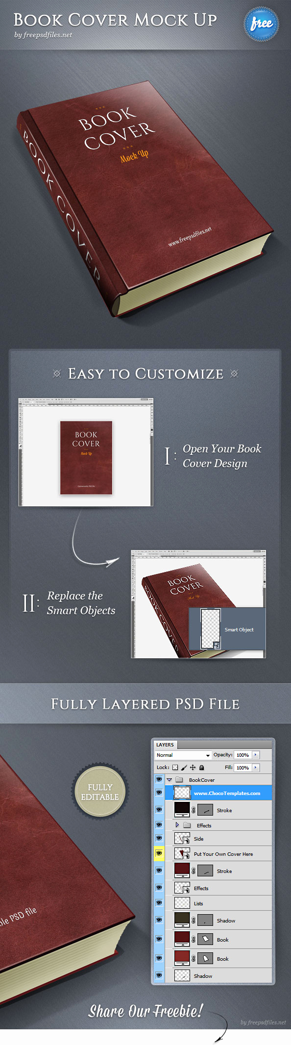 Book Cover Template Psd Lovely Book Cover Psd Mockup Free Psd Files