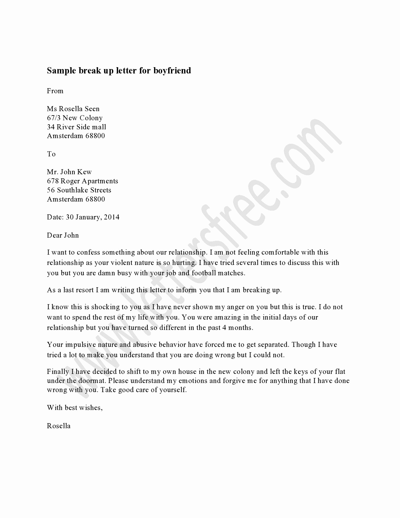 Break Up Letter to Boyfriend Luxury Break Up Letter Sample
