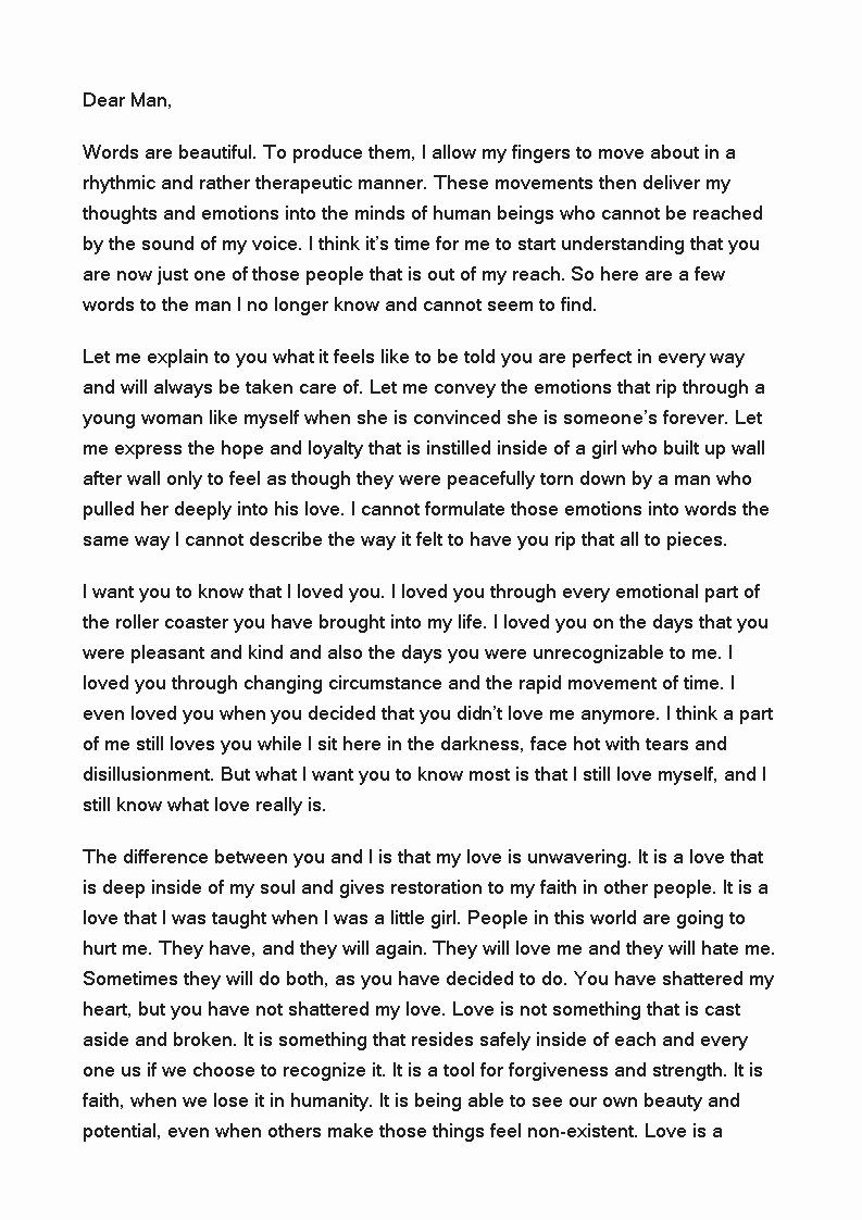 Break Up Letter to Boyfriend Unique Free Love Letter to Boyfriend after Break Up