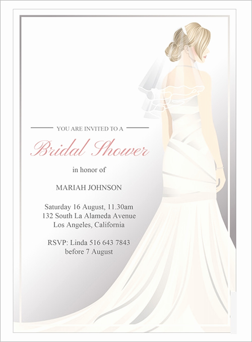 Bridal Shower Invitation Template Awesome Sample Invitation Template Download Premium and Free