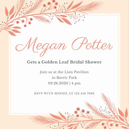 Bridal Shower Invitation Template Beautiful Customize 636 Bridal Shower Invitation Templates Online
