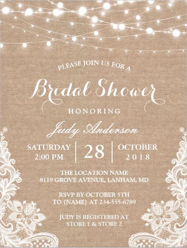 Bridal Shower Invitation Template Elegant 26 Free Bridal Shower Invitations Psd Eps