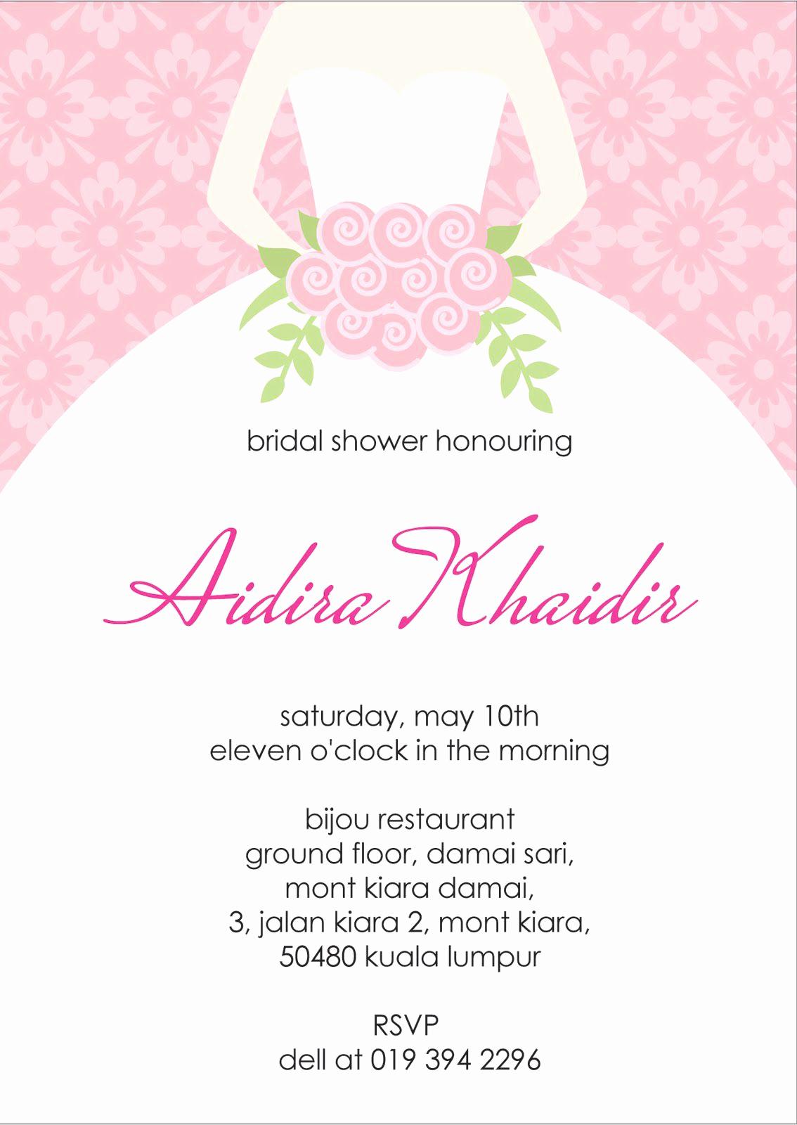 Bridal Shower Invitation Template Elegant Bridal Shower Invitation Verbiage Bridal Shower