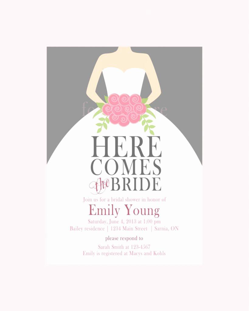 Bridal Shower Invitation Template Elegant Free Bridal Shower Invitation Templates for Word Pics