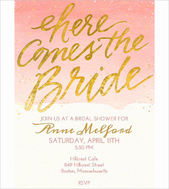 Bridal Shower Invitation Template Inspirational Wedding Invitation Template 71 Free Printable Word Pdf