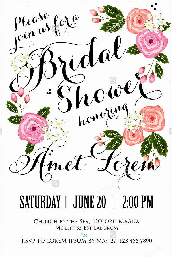 Bridal Shower Invitation Template Lovely 20 Bridal Shower Invitations Free Psd Vector Eps Png