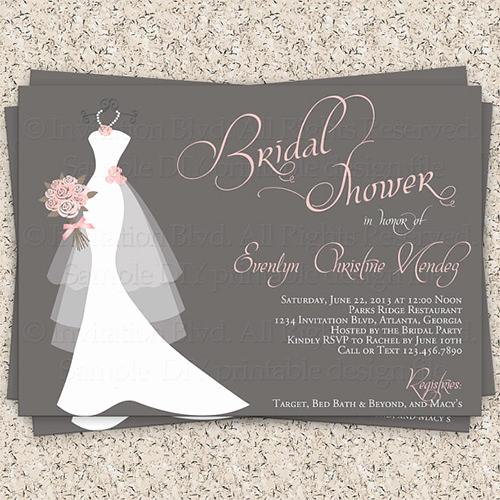 Bridal Shower Invitation Template Lovely 33 Psd Bridal Shower Invitations Templates