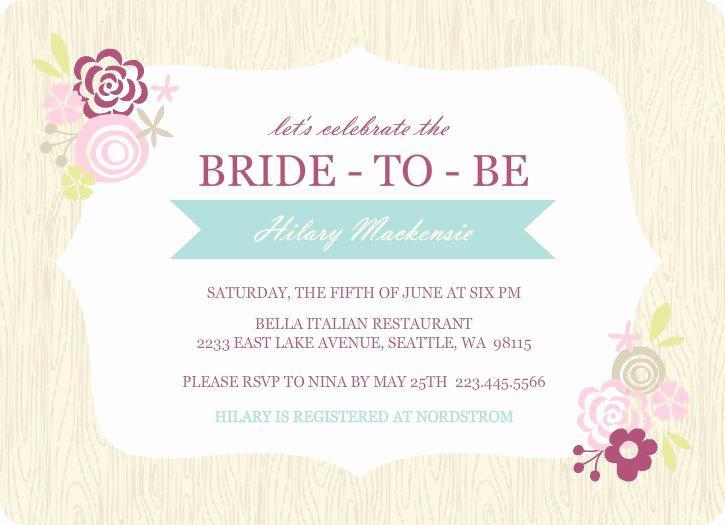 Bridal Shower Invitation Template Lovely Printable Bridal Shower Invitations Templates