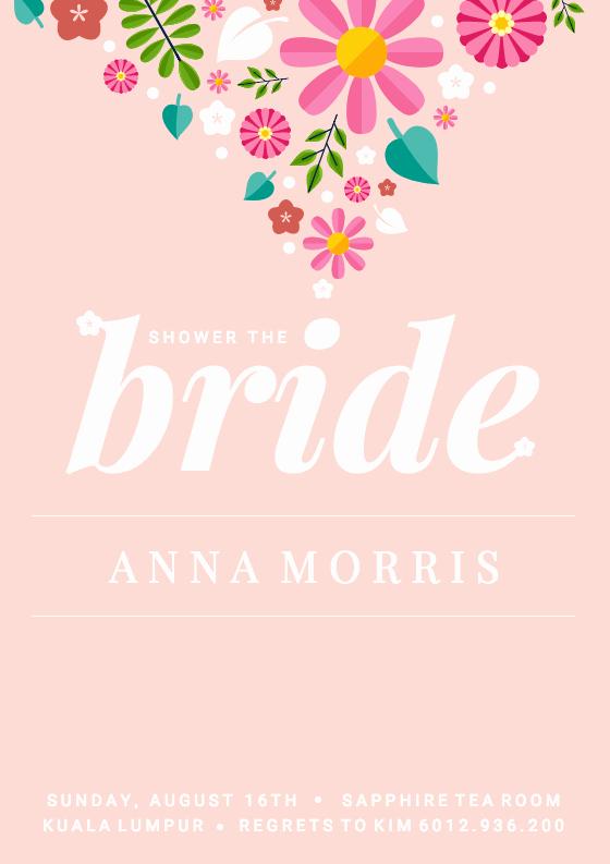 Bridal Shower Invitation Template New 19 Diy Bridal Shower and Wedding Invitation Templates