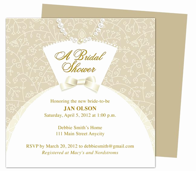 Bridal Shower Invitation Template Unique Dress Bridal Shower Invitation Templates Printable Diy