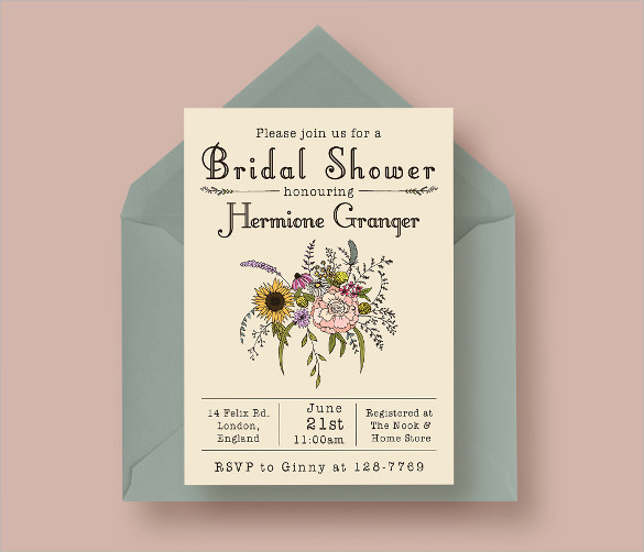 Bridal Shower Invite Template Awesome 25 Bridal Shower Invitation Templates Download Free