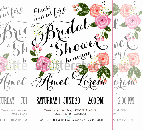 Bridal Shower Invite Template Awesome 25 Bridal Shower Invitations Templates