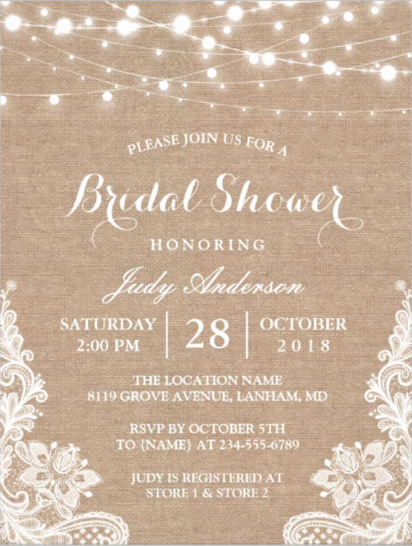 Bridal Shower Invite Template Awesome 26 Free Bridal Shower Invitations Psd Eps