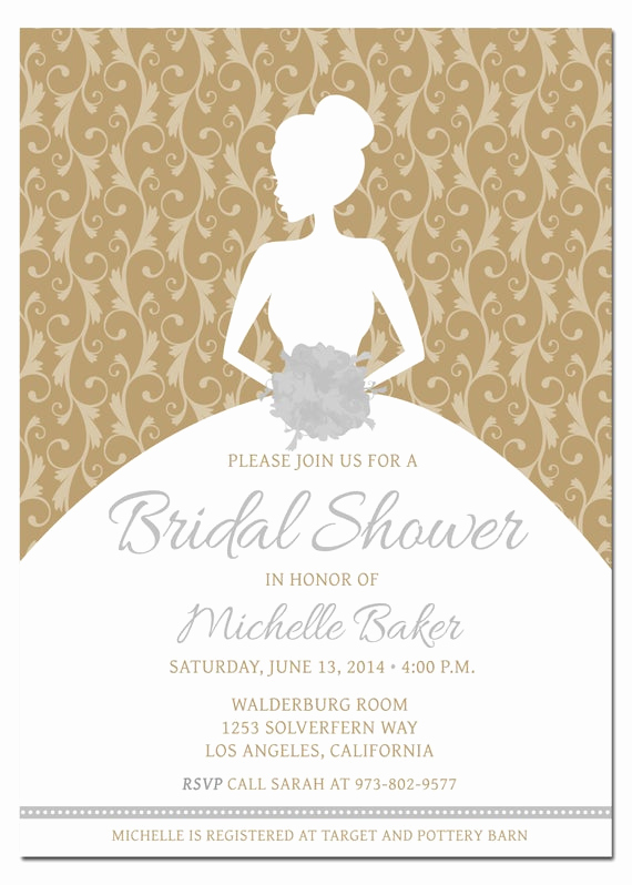 Bridal Shower Invite Template Awesome Printable Diy Bridal Shower Invitation Template with