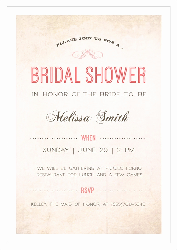 Bridal Shower Invite Template Best Of 30 Best Bridal Shower Invitation Templates
