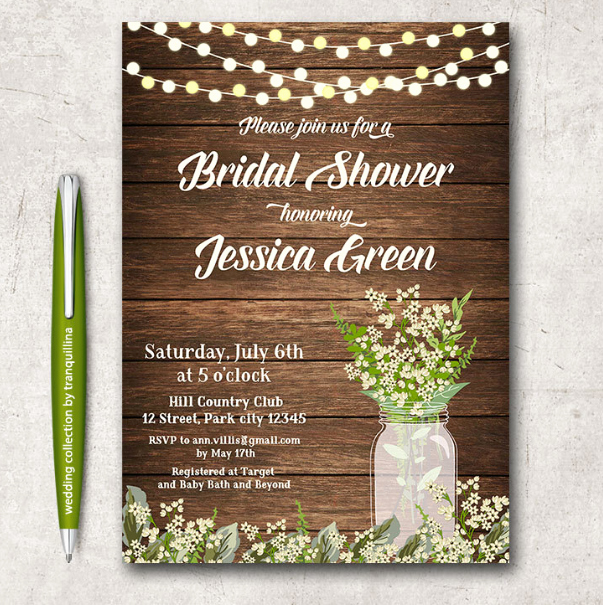 Bridal Shower Invite Template Fresh 14 Printable Bridal Shower Invitations Examples