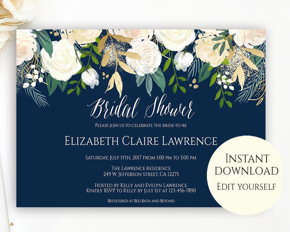 Bridal Shower Invite Template Fresh Bridal Shower Invitation Template Editable Template Bridal