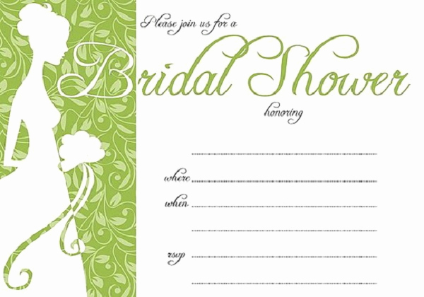 Bridal Shower Invite Template Fresh Bridal Shower Invitations Easyday
