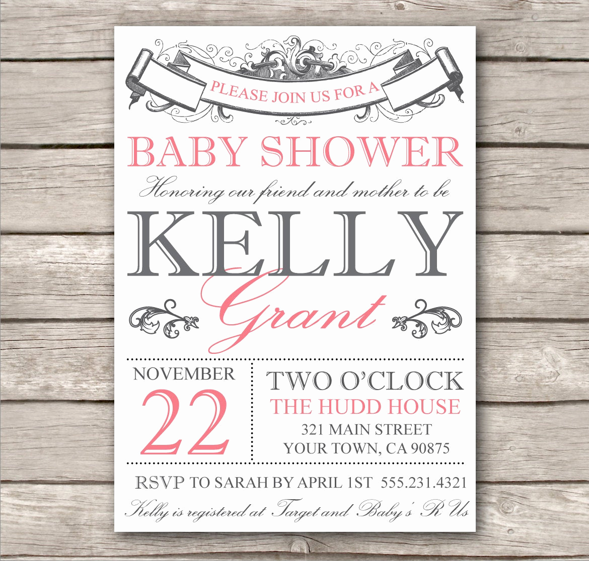 Bridal Shower Invite Template Inspirational Bridal Shower Invitation or Baby Shower Invitation by