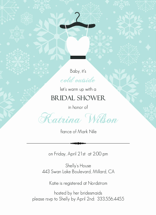 Bridal Shower Invite Template New Bridal Shower Invitation Templates