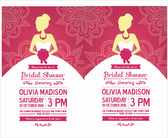 Bridal Shower Invite Template Unique 30 Best Bridal Shower Invitation Templates