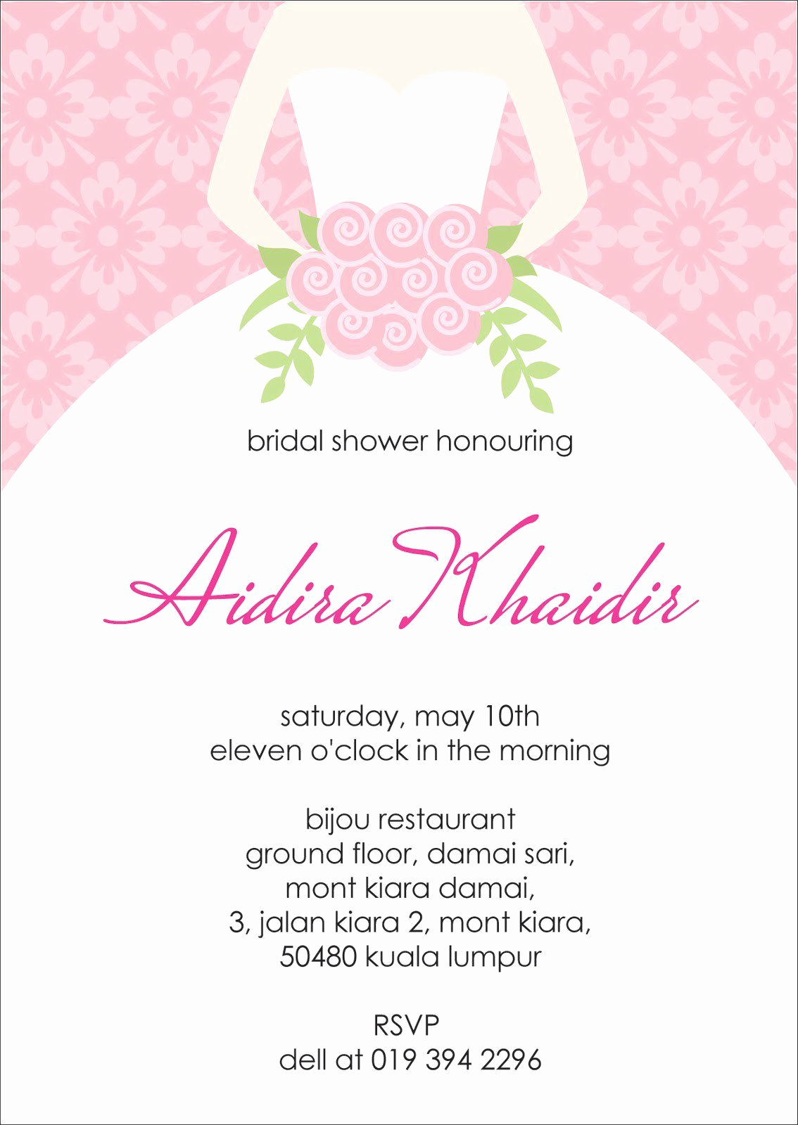 Bridal Shower Invite Template Unique Bridal Shower Invitations Bridal Shower Invitation