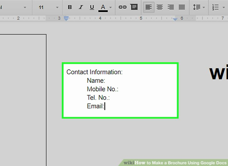 Brochure On Google Docs Beautiful How to Make A Brochure Using Google Docs Wikihow