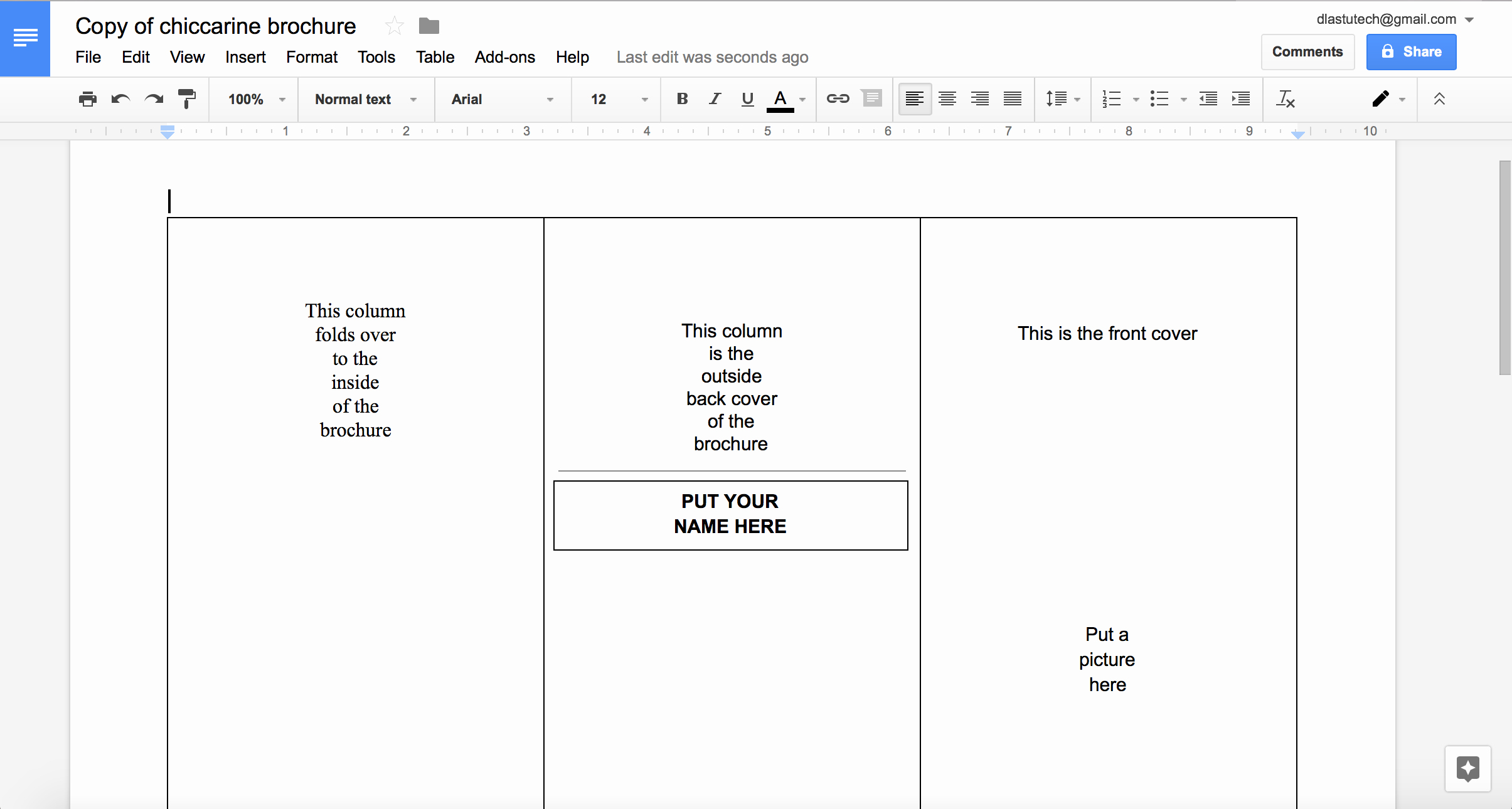 Brochure On Google Docs Elegant Tutorial Making A Brochure Using Google Docs From A