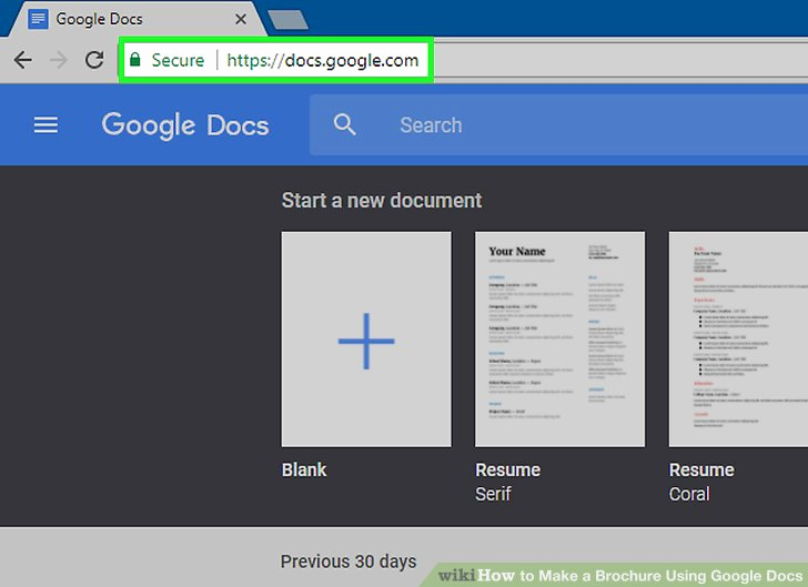 Brochure On Google Docs Fresh How to Make A Brochure Using Google Docs Wikihow