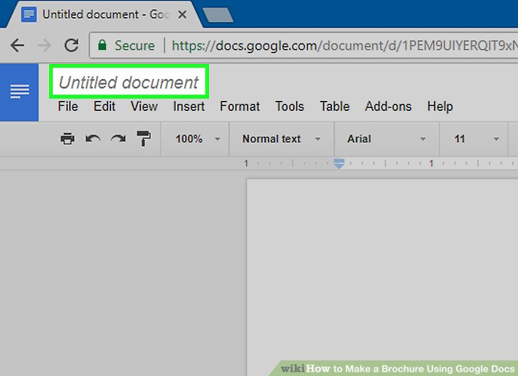 Brochure On Google Docs Inspirational How to Make A Brochure Using Google Docs Wikihow