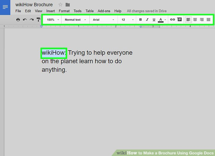 Brochure On Google Docs Unique How to Make A Brochure Using Google Docs Wikihow