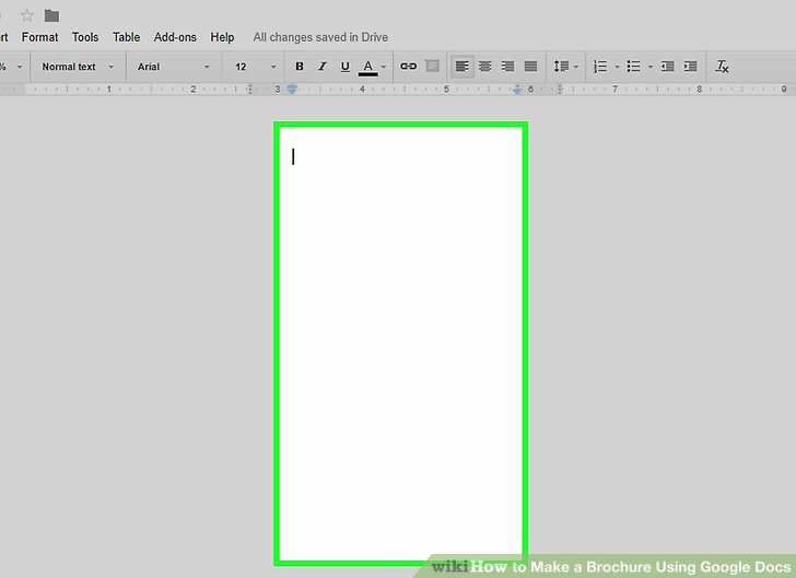 Brochure Template for Google Docs Awesome How to Make A Brochure Using Google Docs Wikihow