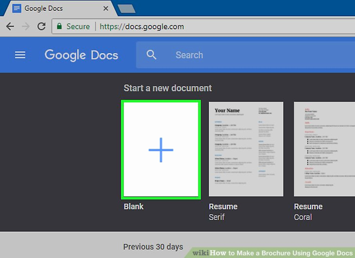 Brochure Template for Google Docs Beautiful How to Make A Brochure Using Google Docs Wikihow